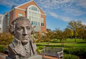 Gesorge Washington Bust at Hodson Hall Commons