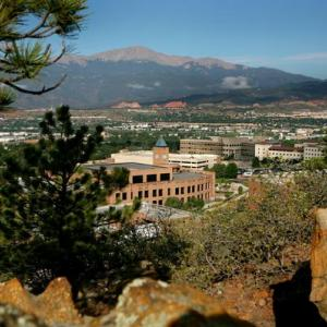View of Campus from the Bluffs