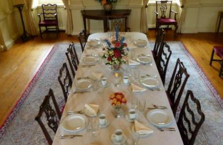 Intimate formal style dining for up to 24