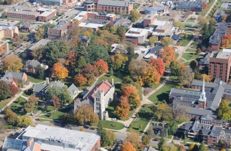 Aerial View of Center of Campus