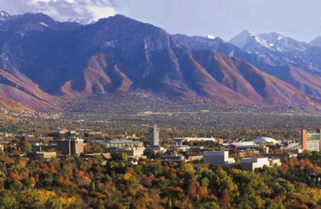 Beautiful Rocky Mountain Setting, Salt Lake City