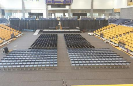 Physical Education Complex, Arena, Set for Graduation