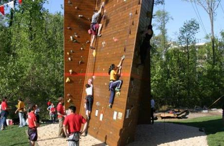 Our Climbing Wall & Ropes Course is a terrific opportunity for team-building .
