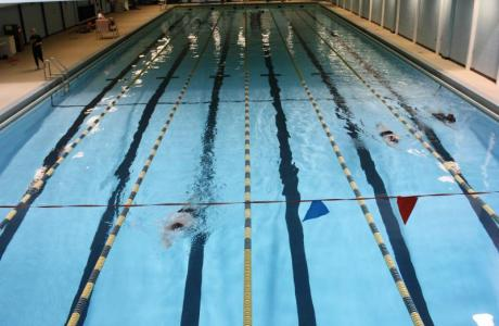 Our Aerobics Center boasts an olympic-size swimming pool