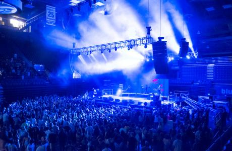 Moby Arena accommodates 8,000 people