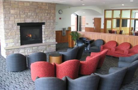 IDX Student Life Center Fireside Lounge
