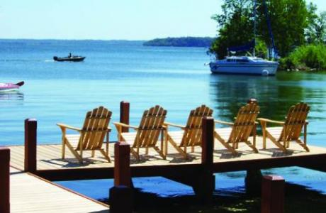 Over two miles of shoreline on Wisconsin's deepest lake
