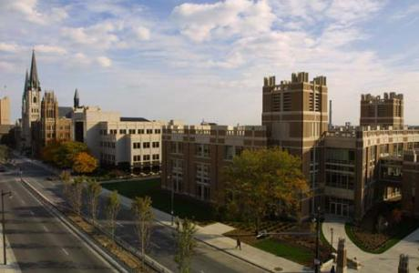 Marquette's urban campus stretches several blocks along Wisconsin Avenue.