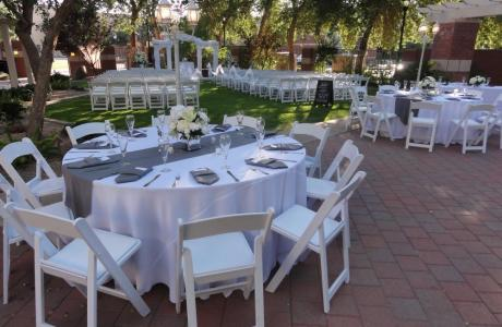 Garden wedding on the Fountain Terrace lawn