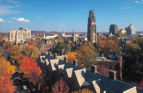 Yale Central Campus in the Fall