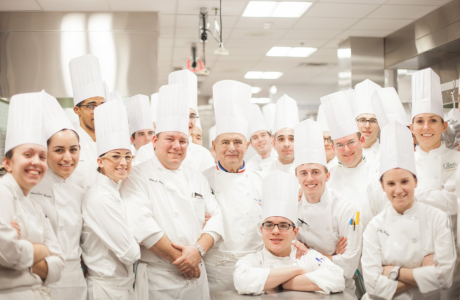 Paul Bocuse with CIA Students