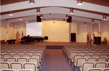 The Music Center's auditorium can accommodate 240 audience members. The built in sound system can be utilized upon request.