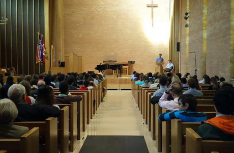 Kimberly Chapel holds up to 325 for concerts, presentations & meetings.