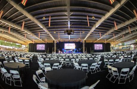 1200 person Conference set-up in outdoor arena