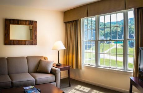 Newly updated Country Inn Suite living room!