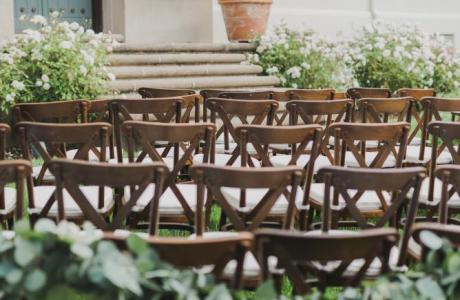 Lawn ceremony seating