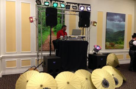 DJ Setup for a Special Event on Campus