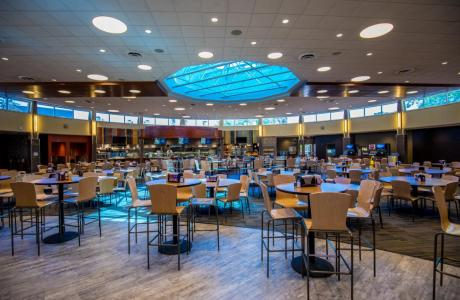 Our main dining center, Wismer, can fit upwards of 500 people.