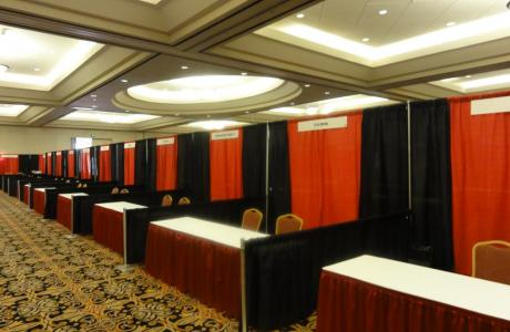 Pipe and draped tradeshow booths