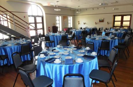 Dinner reception in the Wadsworth Family Art Gallery