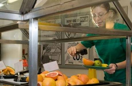 Organic choices served in dining halls