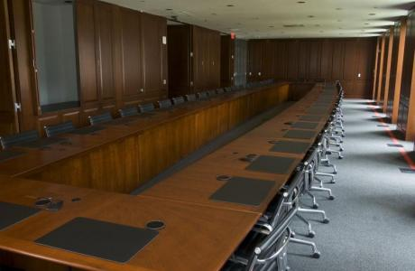 The Crist Boardroom in the Riggs Center is a favorite meeting place.