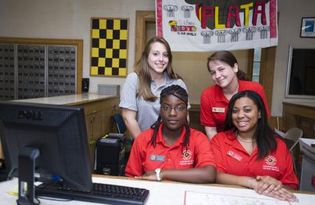 Hospitality assistants in Residence Hall