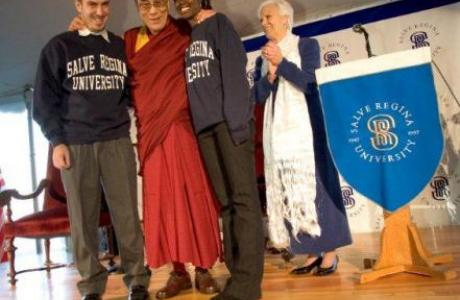 His Holiness the 14th Dalai Lama meets with Salve Regina students, November, 2005