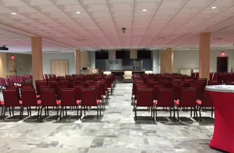 Chuck William Conference Center set-up as Theatre Style for 200