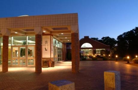 Roche Dining Commons at Night
