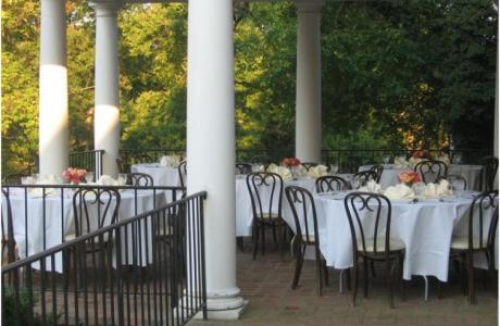 Take advantage of warm seasons and plan a formal dinner or BBQ on the portico