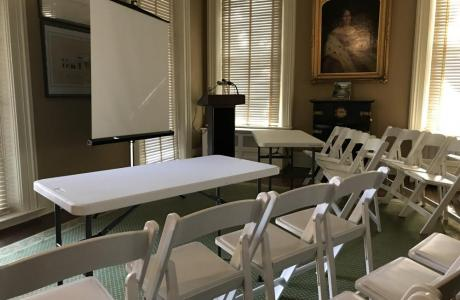 Historic Lecture Room in Tudor Place parlor