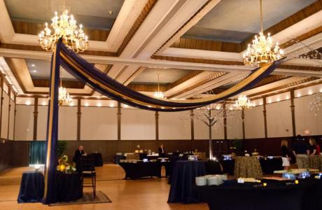 With over 9,000 sq. ft., you can decorate our ballroom to your desire