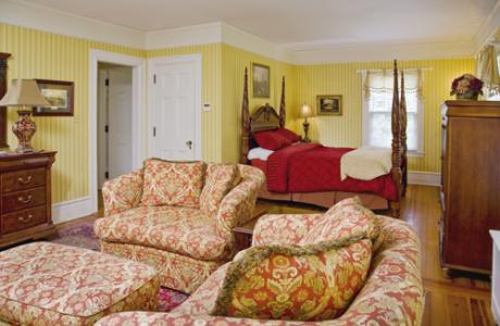 The Eisenhower Suite, like all the rooms, is uniquely decorated