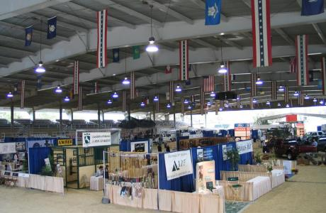 Trade show in outdoor arena