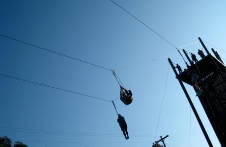 Fun on the Zip Lines