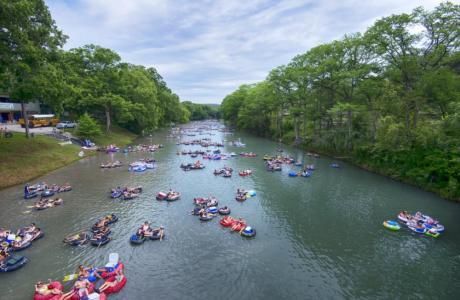 Tubing on the Guadalupe River