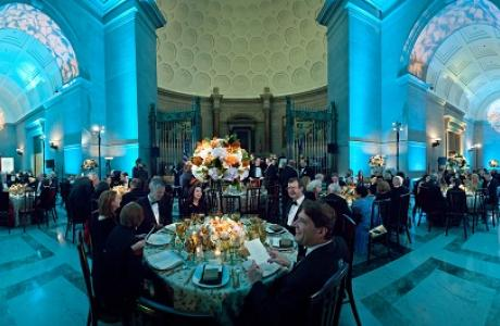 Guests enjoying the National Archives Foundation annual gala in the Rotunda Galleries