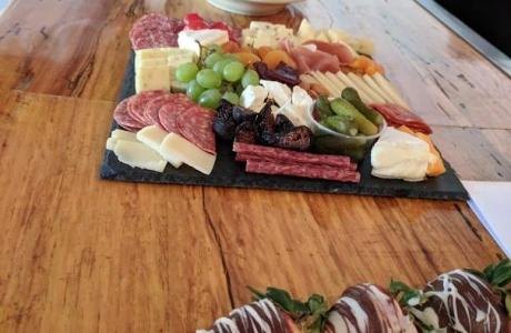 Use our beautiful bar for your yummy spread!