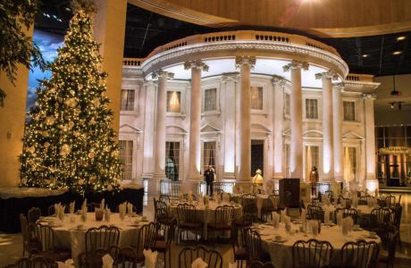 The Museum Plaza is a fun and festive venue for holiday parties.
