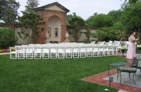 North Garden, set for a ceremony