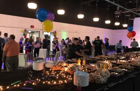 Buffet set-up at FABRIC for Corporate Celebration
