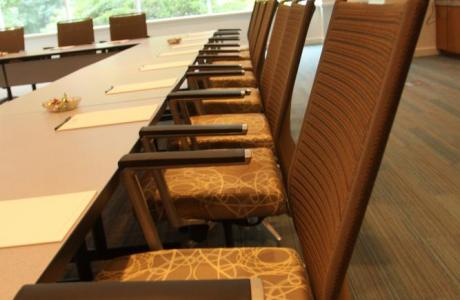 Ergonomic chairs ensure comfort for your meeting attendees