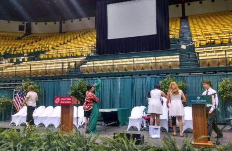 Kaplan Arena - Special Event Stage and A/V Setup