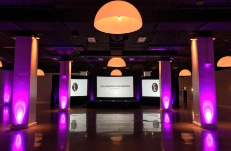 The Davison at Southern Exchange Ballrooms with screens and lighting by SEAVL