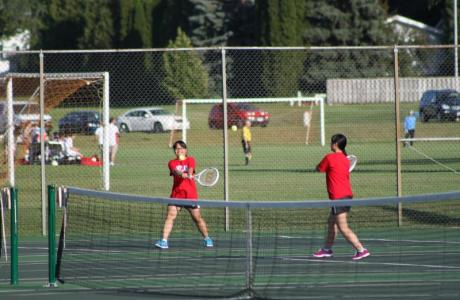 Wayland Tennis Courts are located east of the Field House next to soccer fields.