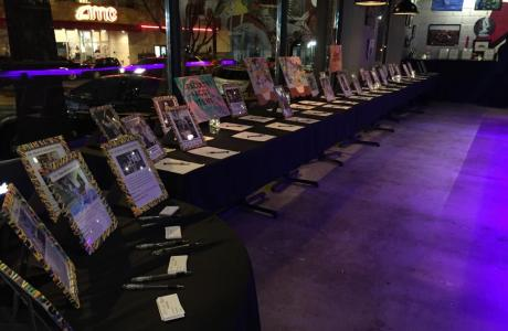 auction set up in bar area for an event