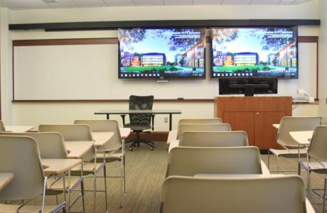 Classroom space capacities range from 20 to 70 people