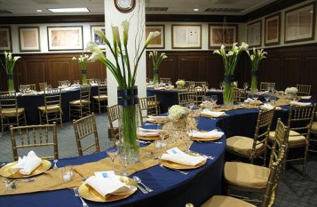The Jefferson Room, part of the Presidential Conference Center, is ideal for luncheons or meetings held in conjunction with a lecture, tour, reception, or dinner