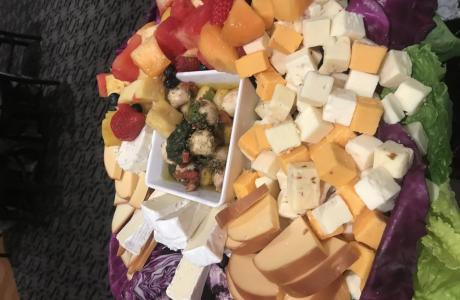 Cheese & Fruit Display